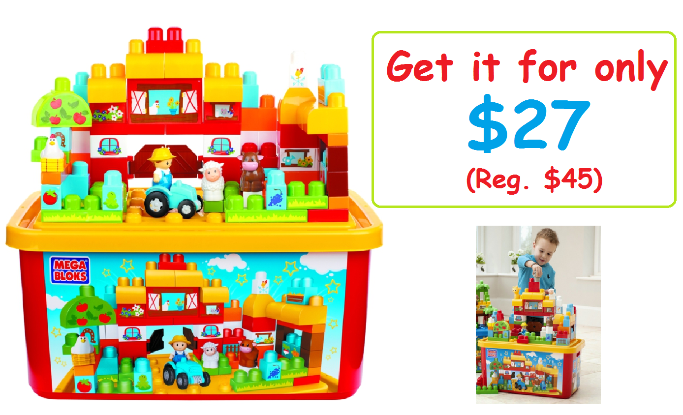 Get the Mega Bloks First Builders Farm (w/ Large Tub) for $26.91! (WAS $45) - LOWEST PRICE EVER!
