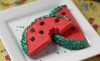 Watermelon Cookies by Megan's Cookin.