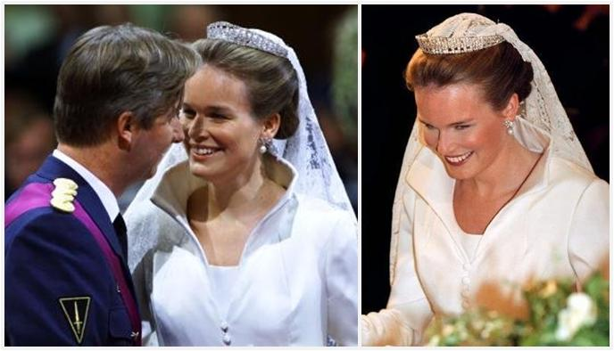 The Royal Order of Sartorial Splendor  Wedding Wednesday  Princess  Mathilde s Gown 93fc10711