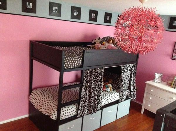 loulou gatou 15 fa ons de customiser votre lit kura de ikea. Black Bedroom Furniture Sets. Home Design Ideas