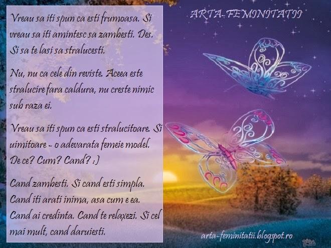 ARTA FEMINITATII - DESCOPERA FRUMUSETEA CARE ESTI TU!!!