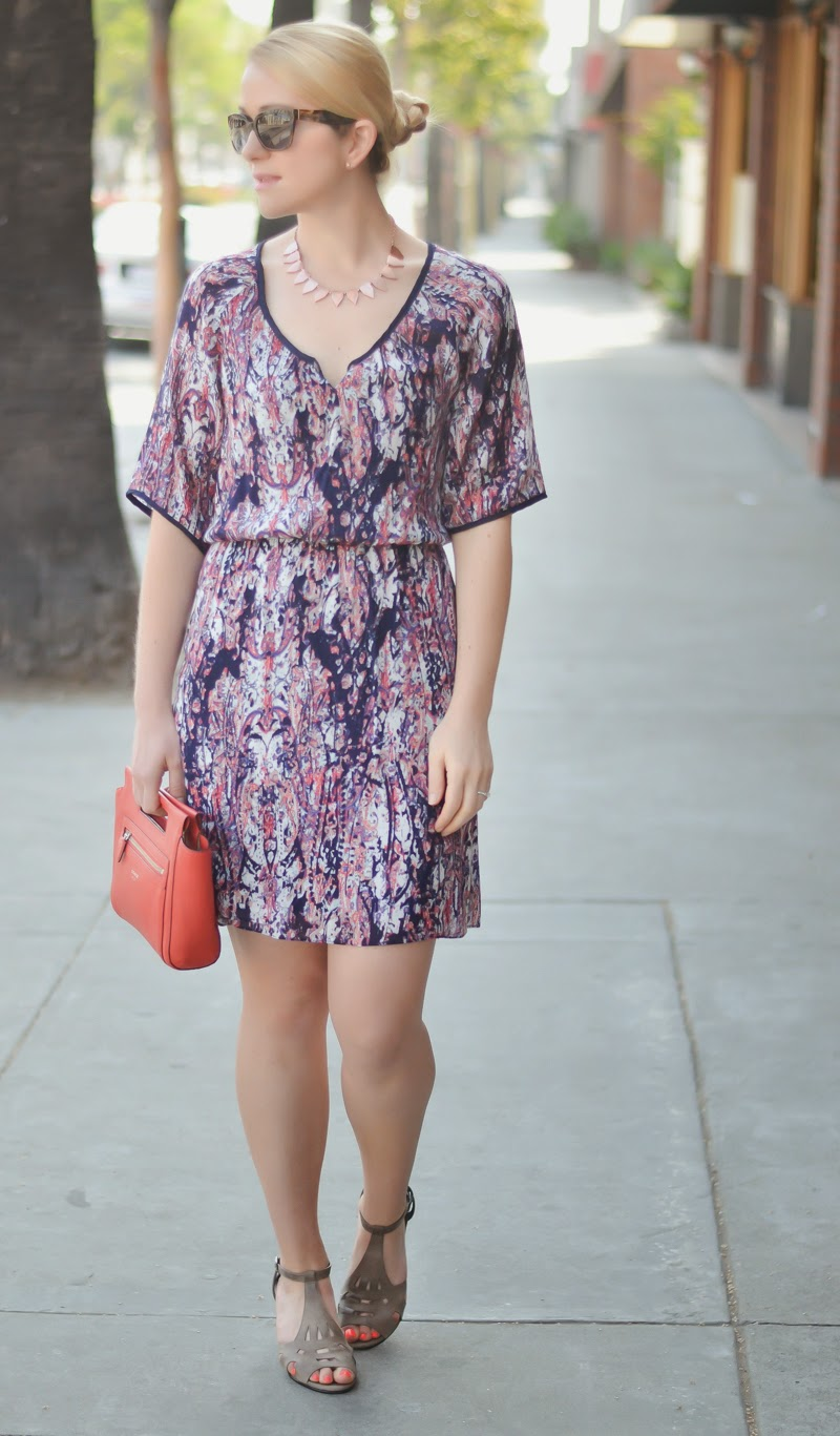 Navy Floral Print Dress | Luci's Morsels