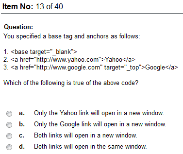 odesk html 5 test answers 2012