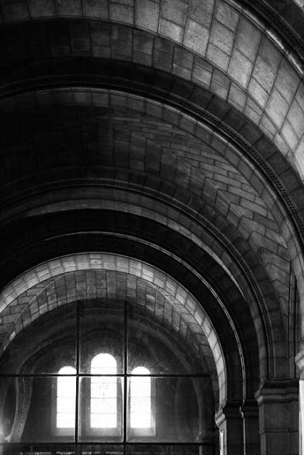 arches in the crypt of Sacre Coeur