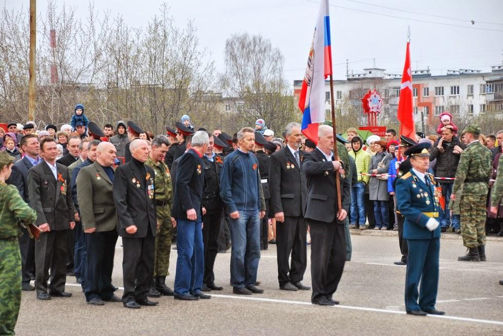 Парад 9 мая 2014 в Лысьве - ветераны