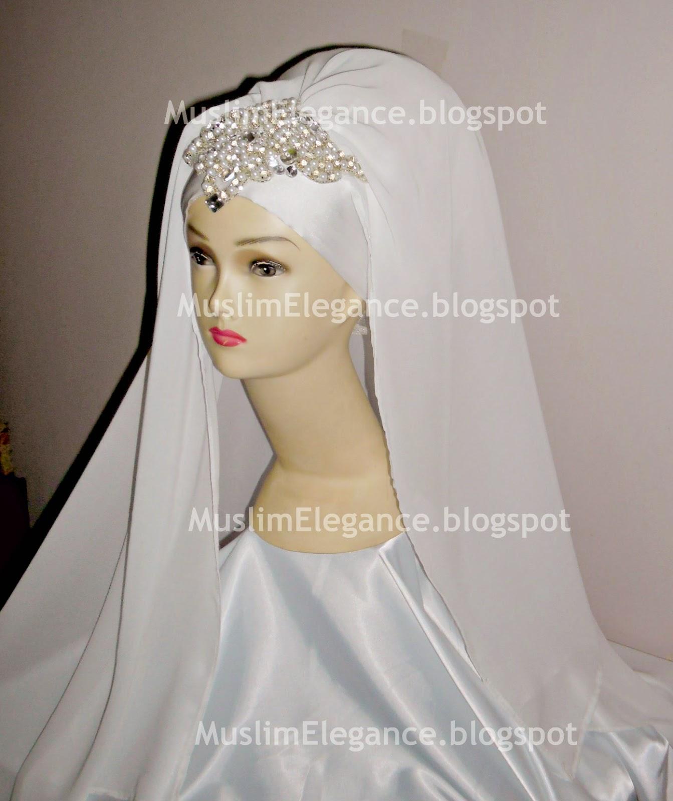 Bridal Hijab Muslim Elegance Headpiece