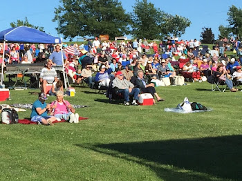 Crowd Gathers for Concert and Fireworks