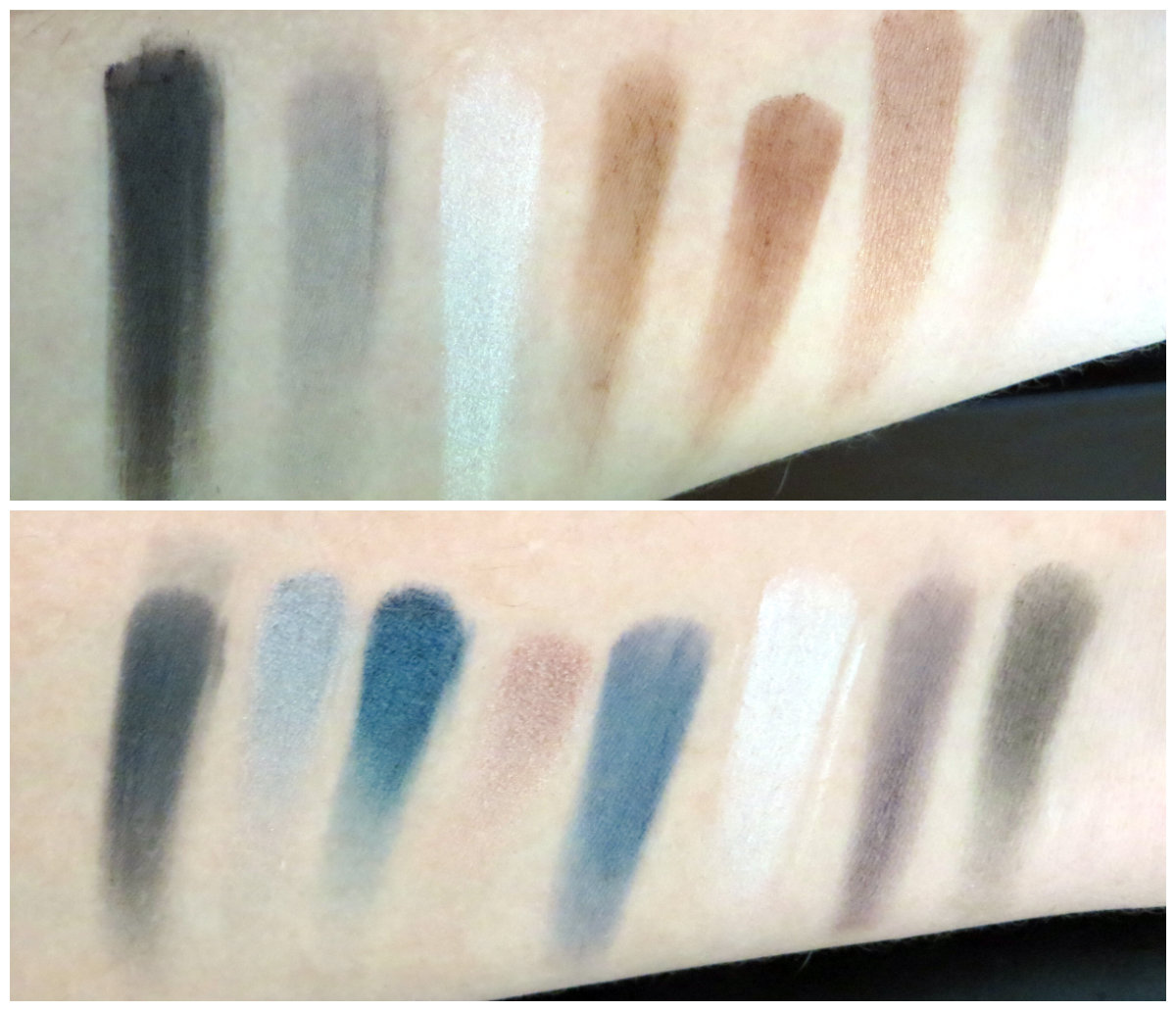 L.A. Colors 12 Color Eyeshadow Palette Swatches