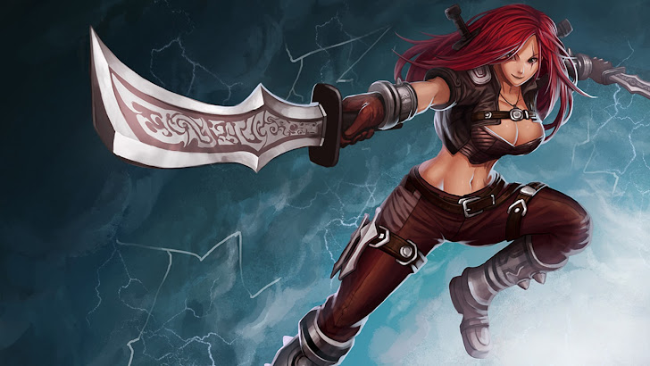 katarina league of legends game lol girl champion