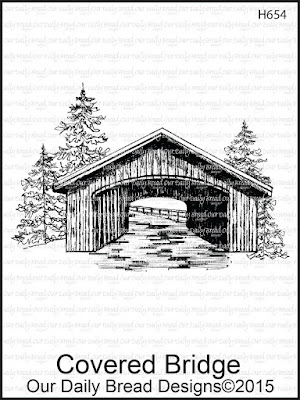Our Daily Bread Designs stamp: Covered Bridge