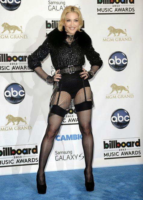 Madonna in stockinga dn high heels