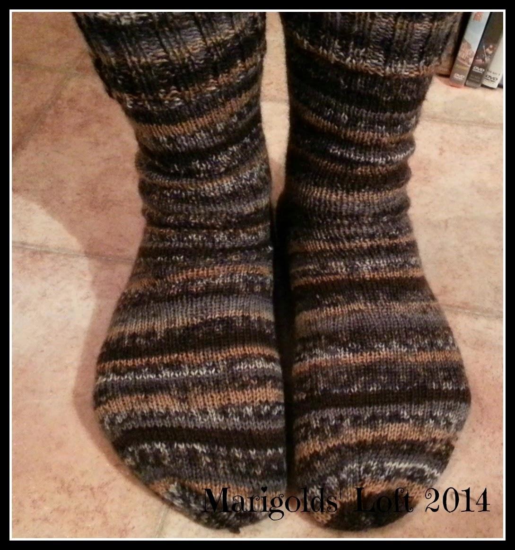 sock knitting Drops Fabel