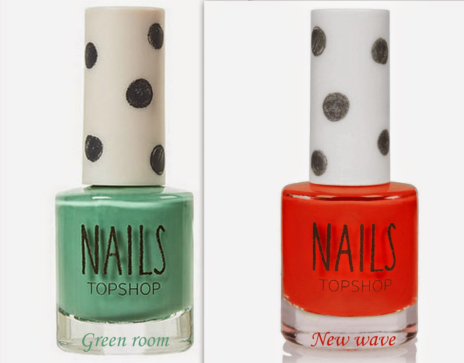 beauty, opi nail polish, topshop nail polish, mint green nail polish, orange red nail polish, nails for fall