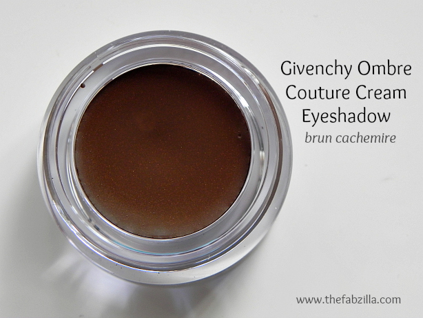 givenchy ombre couture cream eyeshadow burn cachemire, review, swatch