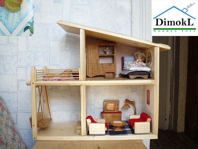 182 Домик деревянный кукольный своими руками