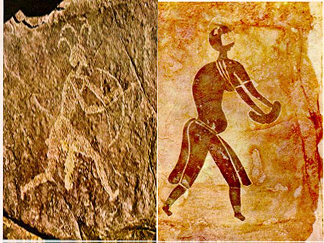 barlangfestmény vadászó ember