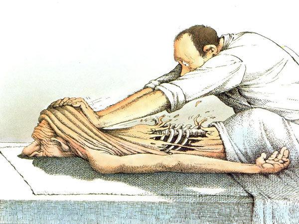 massage för ryggen