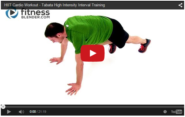 High Intensity Interval Training Workout - 20 Minute HIIT Cardio Workout