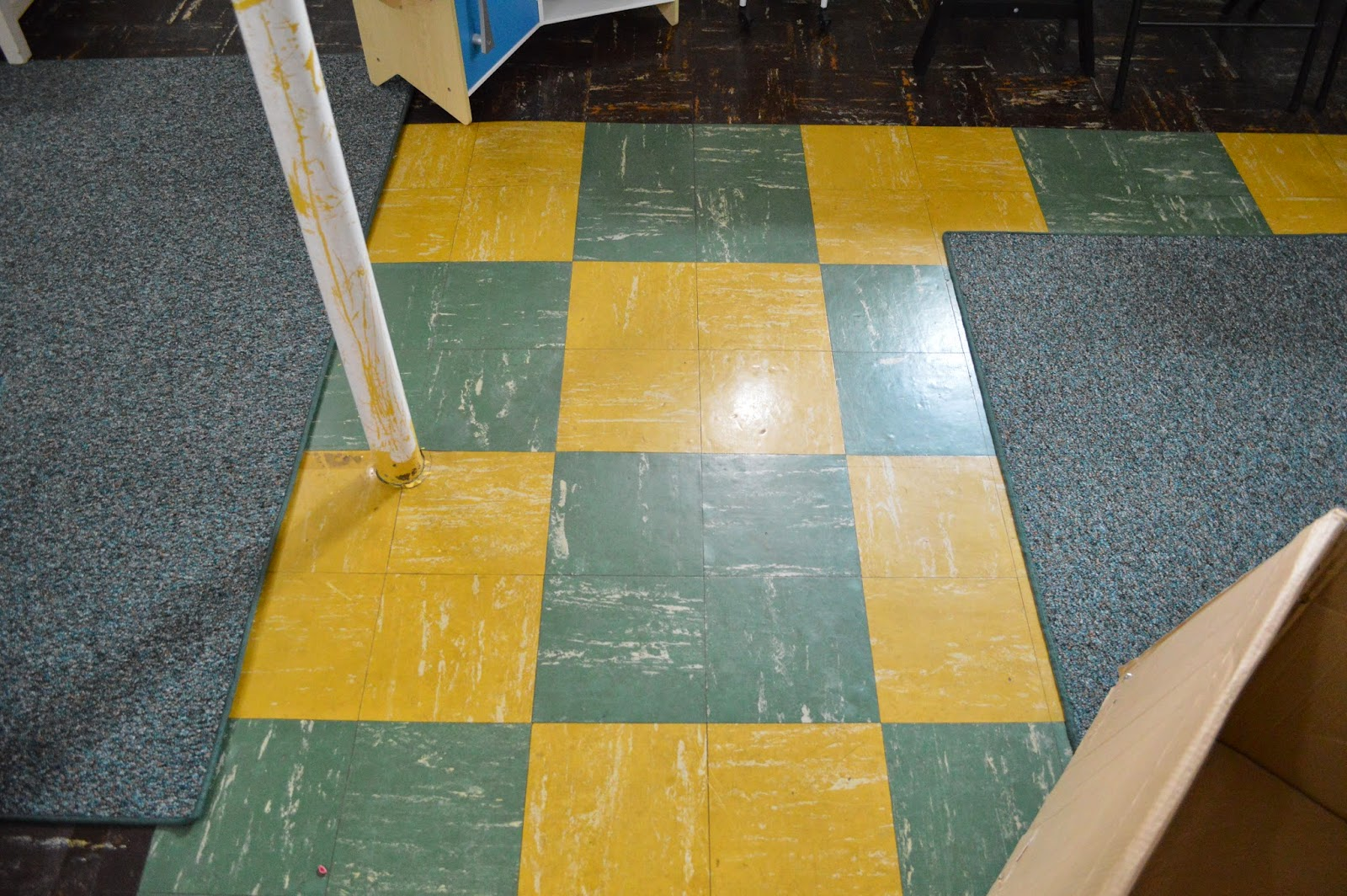 This kind handyman and i retro basement floor say hello for Paint old linoleum floor