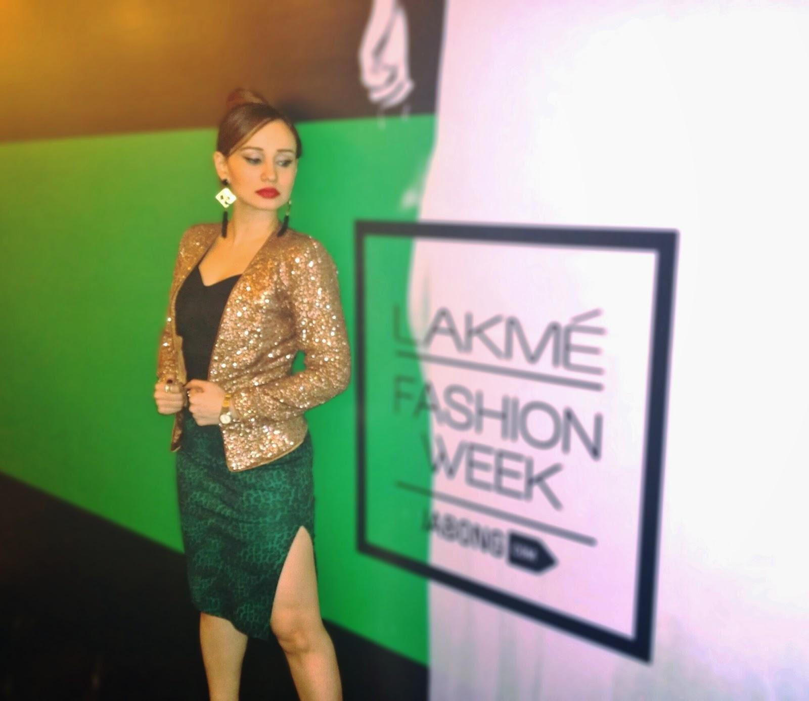 H&M Bronze Sequin Blazer, Crop Top & Animal Print Pencil Skirt