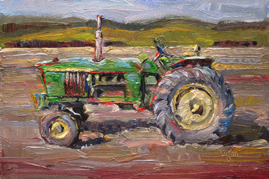 Girly John Deere Paintings : Raymond logan s latest work john deere tractor