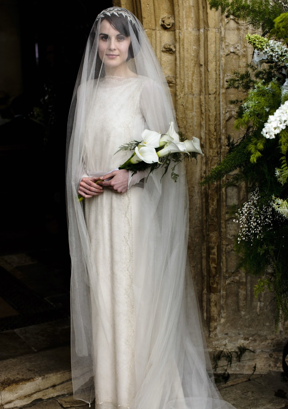 Dressybridal marry 39 s long sleeved wedding dress downton for Downton abbey style wedding dress