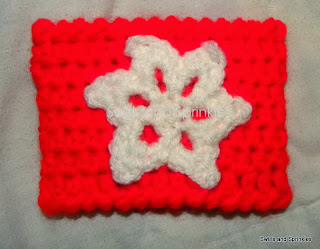 Swirls and Sprinkles: Crochet snowflake applique pattern