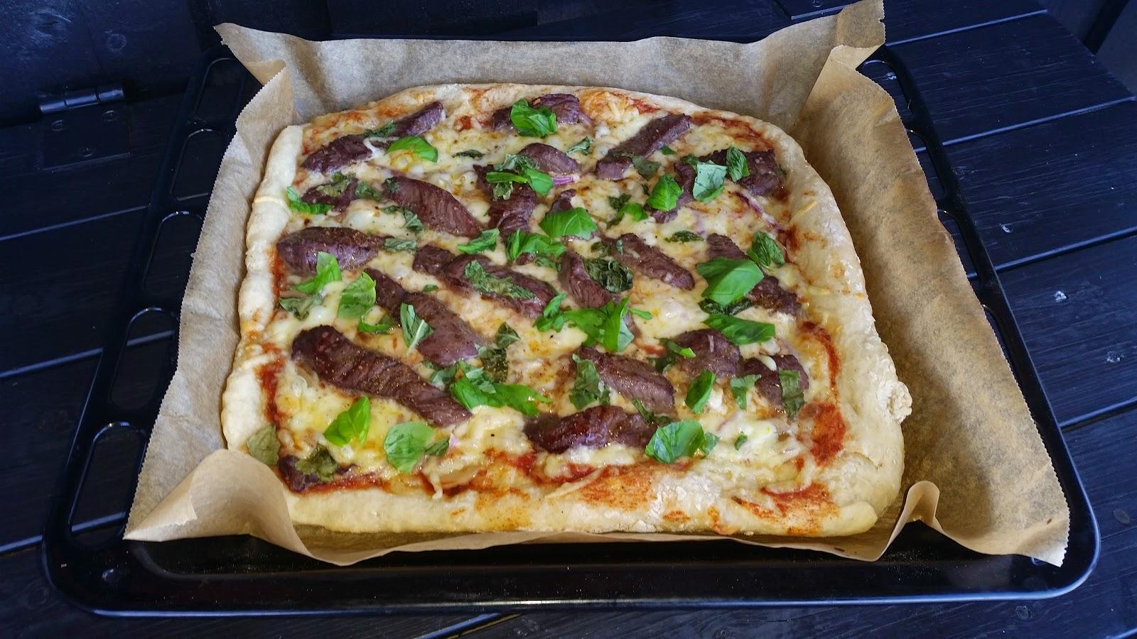 Steke pizza i gassovn