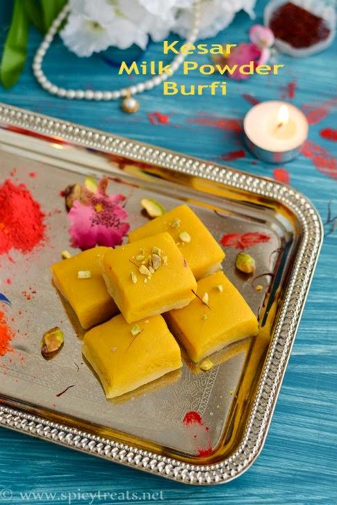 Kesar Burfi Recipe