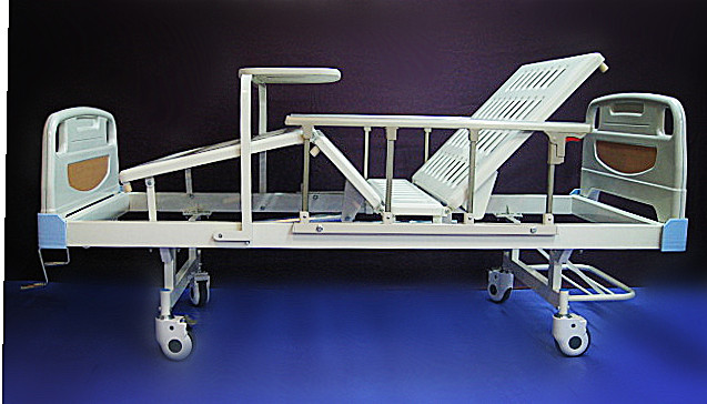 6. Deluxe ABS Hospital bed manual two functions 豪华 二功能 手动 医院床 ABS床頭床尾板
