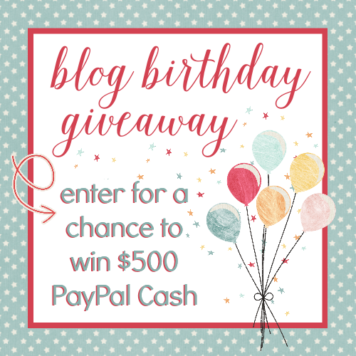 Get entered to win $500 in PayPal cash!
