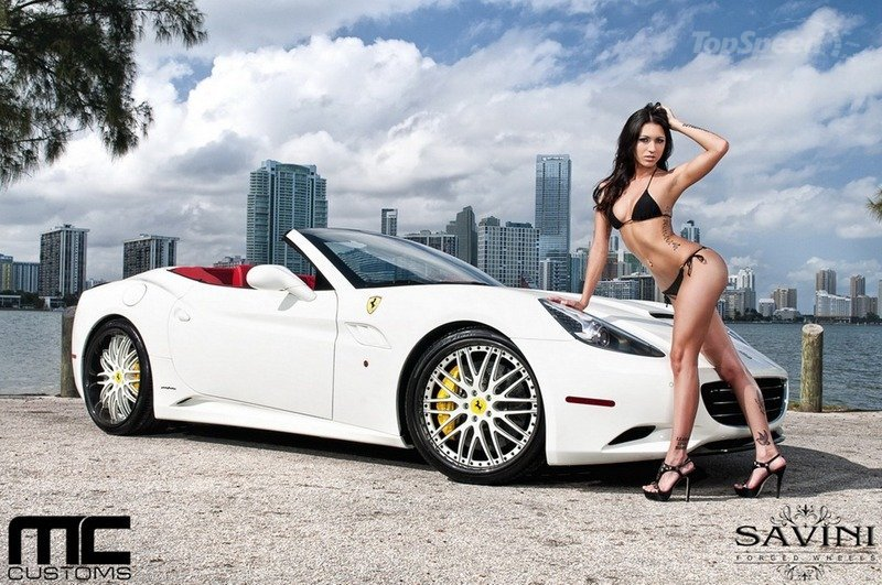 Auto Cars New 2015, Super Ferrari Sports car and Beautiful Girl
