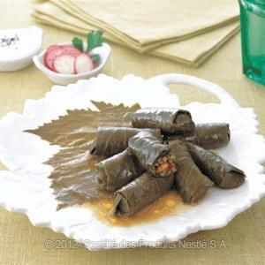 Lamb Stuffed Vine Leaves Recipe