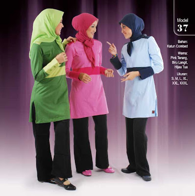 Qirani Collection Pink terang Biru langit Hijau tua
