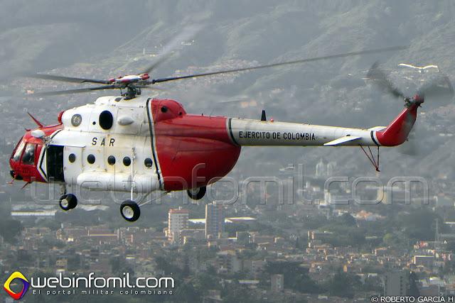 Este es el Libertad 1, el helicóptero MI-17 del Ejército Nacional que fue usado en la Operación Jaque; la más renombrada operación militar en la historia de Colombia.