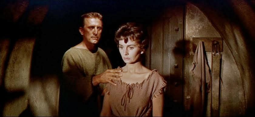 Kirk Douglas Jean Simmons Spartacus movieloversreviews.filminspector.com