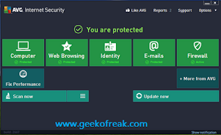 AVG Internet Security 2013 Serial key till2018