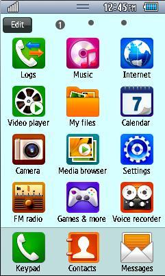 Samsung GT-S5250 Default Theme Free Download Menu