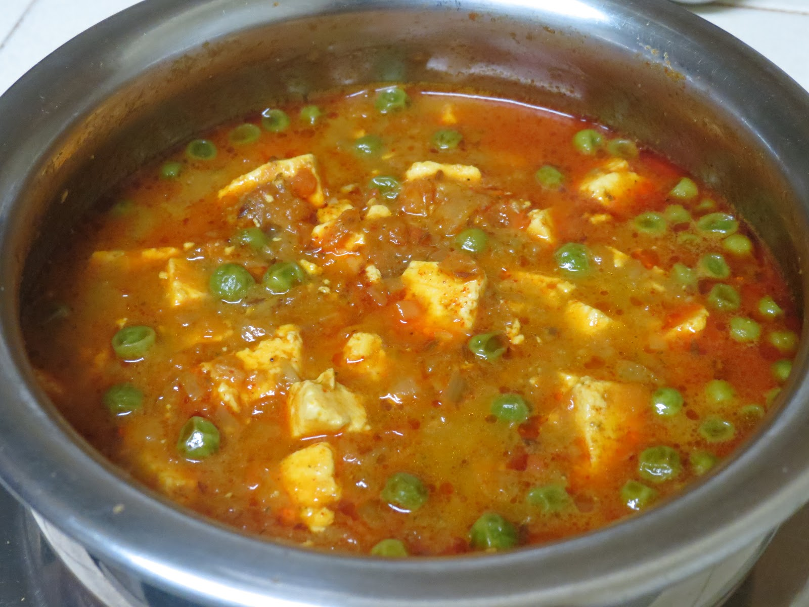 Matar Paneer with a twist