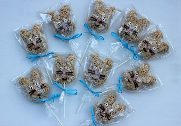 Rice Krispies Bunny Pops for Easter