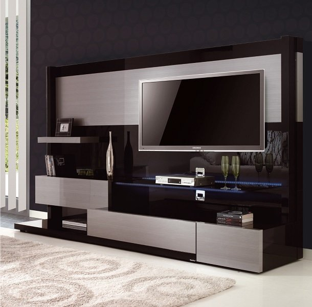 meuble tv mural alinea meuble tv. Black Bedroom Furniture Sets. Home Design Ideas