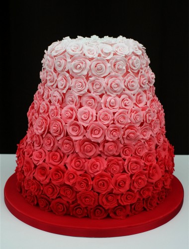 Red Rose Cake Design : GALERiA 15 Pasteles ombre para toda ocasion