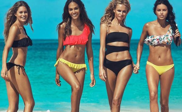 bikinis asimétricos H&M moda baño verano 2015