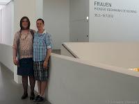 Philipp Wimmer und Michaela in der Pinakothek der Moderne