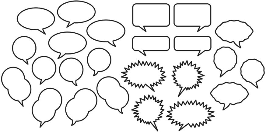 Write my speech bubble writing template