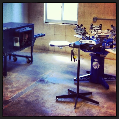 Setting+up+the+shop%2521 - Soul Flower's In-House Screen Printing