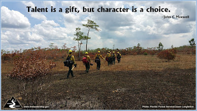 Talent is a gift, but character is a choice. –John C Maxwell