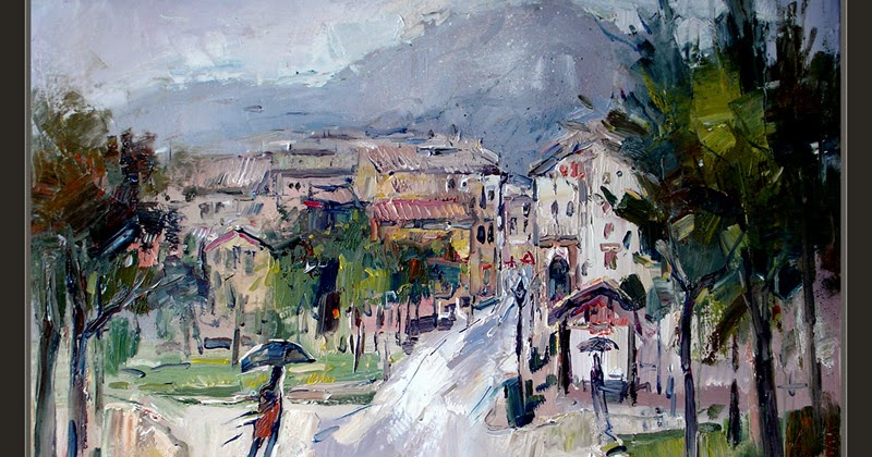 Cuadros ernest descals pinturas sant lloren de morunys pintura lluvia lleida lerida cuadros - Pintores en lleida ...
