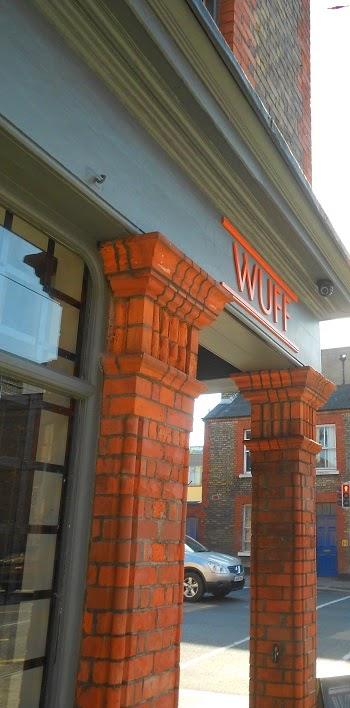 Front door of Wuff in Benburb Street, Dublin