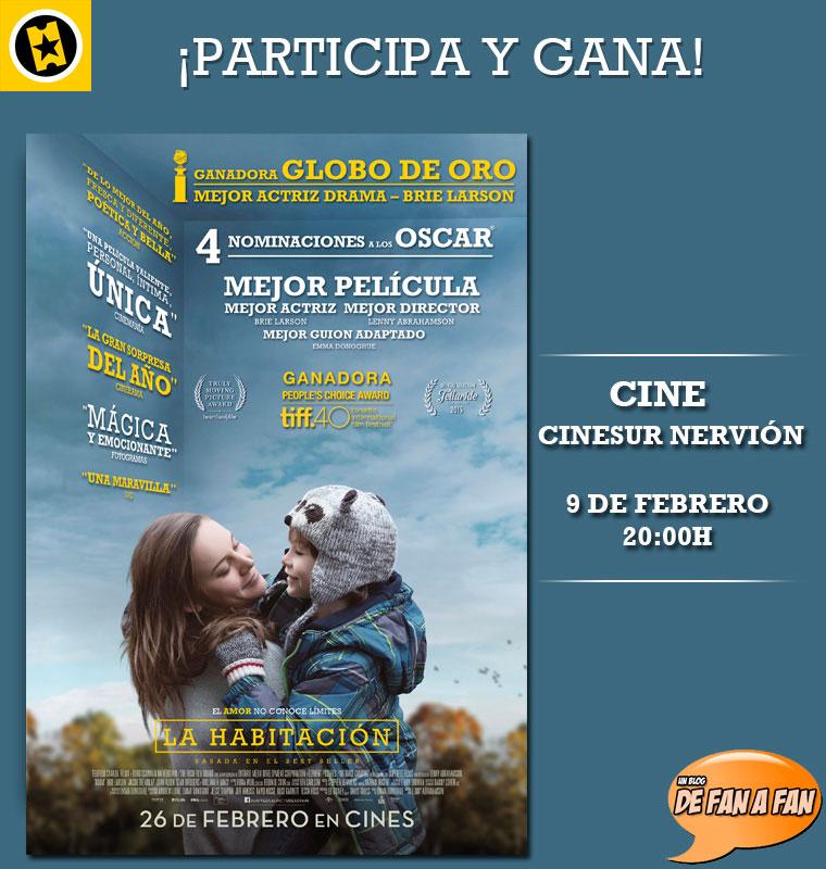 """Sensacine / De Fan a Fan - Concurso Preestreno """"La Habitación"""" en Sevilla"""